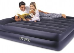 Queen Raised Airbed Intex with Pillow Rest