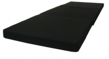 D&D Futon Furniture Black Tri-Fold Foam Bed