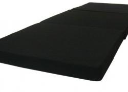 D&D Futon Furniture Black Tri-Fold Foam Bed