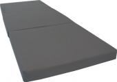 D&D Futon Furniture Gray Shikibuton Tri-Fold Foam Bed