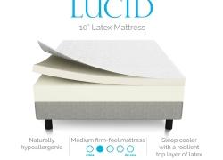 LUCID 10 Inch Latex Foam Mattress