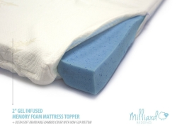 MILLIARD 2″ Gel Infused Memory Foam Mattress Topper