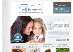 SafeRest Premium Mattress Protector Zippered Design