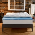 Sleep Innovations Dual Layer 4-Inch Gel Memory Foam Topper