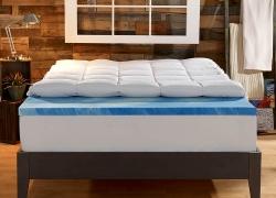 Sleep Innovations Dual Layer 4-Inch Gel Memory Foam Topper